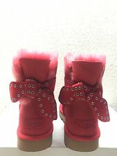 UGG CAMERON LIPSTICK RED CLASSIC BAILEY BOW SHORT BOOT USA 10 / EU 41 / UK 8.5