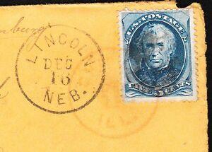 5c Zachary Taylor Lincoln Nebraka via Chicago to Berlin 1877 Cover & Letter Ø