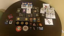 Disney Collection Lot Pins Ornaments Coins Magical Moments Limited Edition Cels