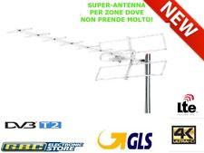 ANTENNA TV DIGITALE TERRESTRE 12 ELEMENTI UHF DVB-T2 HD ALTO GUADAGNO LTE 21-60