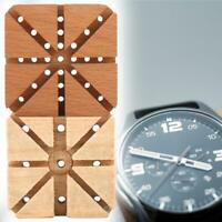 Professional Wooden Watchband Holder Watches Strap Link Remover Base Watch Tools