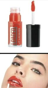 AVON LOADED LIP LAQUER - TOUCH OF CORAL x2