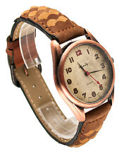 INFINITY: WOMEN GENUINE ANTIQUE LEATHER BAND ANALOG QUARTZ WATCH