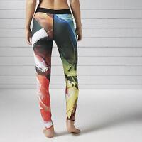 Brand New $75 Reebok Women's Acid Fade Legging B45915