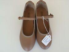 Dance Tap Shoes by Danshuz Tan Buckle Up Low Heel Size 2.5M