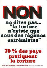 Non Torture ACAT Action des Chrétiens pour l'Abolition de la Torture Tract