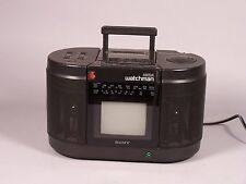 VINTAGE SONY MEGA WATCHMAN FD-555 PORTABLE TV AMFM RADIO/TAPE PLAYER