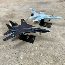 MAISTO USAF F-14 Black TOMCAT & F-16 Die Cast Metal Fighter Plane LOT OF 2