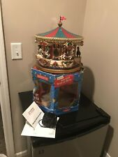Animated Mr Christmas 1994 Holiday Carousel Merry go Round  Musical 21 Songs Box