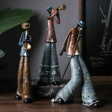 Jazz band musique figurine statue art décoratif sculpture style rétro Home Decor