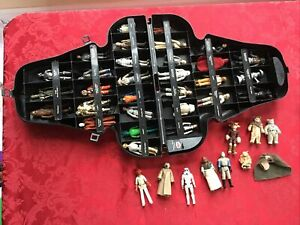 Vintage Star Wars Darth Vader Carrying Case 41 Action Figures Weapons 1977-1983