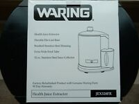 Waring Pro Health Juice Extractor Brushed SS-JEX328-Complete & Never Used