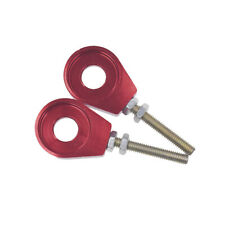 Red Alloy 12mm Rear Wheel Chain Tensioner Adjuster For 110cc 125cc Pit Dirt Bike