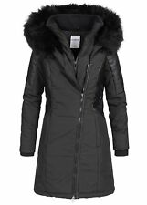 46% OFF B18119027 Damen 77 Lifestyle Jacke Winter Mantel Kunstleder schwarz