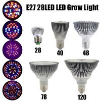 E27 68/78/120LED Full Spectrum Planting Grow Light Bulb Veg 30W/50W/80W YU 301