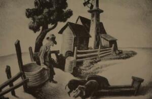 Vintage Thomas Benton In The Ozarks 1939 Print Wall Art