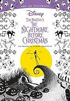Disney Tim Burton Nightmare Before Christmas Adult Colouring Book Gothic Gift