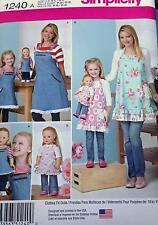 New Pattern 1240 Aprons in 3 Sizes. Adult Child Doll fit 18 inch American Girl