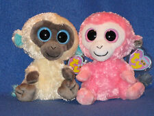 TY BEANIE BOOS BOO'S - SHERBET & BANANAS - UK EXCLUSIVE - MINT with MINT TAGS