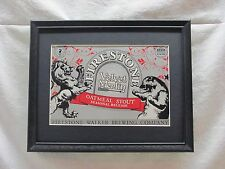 FIRESTONE OATMEAL STOUT   BEER SIGN  #827