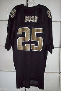NFL New Orleans Saints Bush #25 Team Color Black Collar Reebok Jersey Adult 2XL