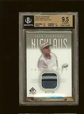 JACK NICKLAUS 2001 SP AUTHENTIC GOLF TOUR SWATCH SHIRT SILVER 37/100 BGS 95 #844