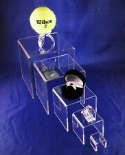 Lot Of 5 Square  Acrylic Display Risers Up to 5 Inch