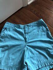 EUC Womens White Stag 100% Cotton Aqua Shorts/sz 12