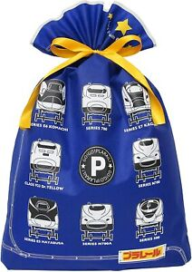 Indigo TAKARATOMY Plarail Wrapping Bag Gift Bag 3L Blue TA081