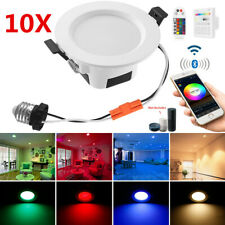 10X Rgbwc Led Ceiling Panel Lamp Down Light Wifi Bluetooth Mesh Controler Dimmer
