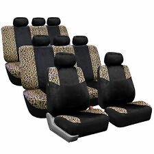 3Row SUV Seat Covers for Auto Vehicle Sedan SUV Van Truck Leopard Brown