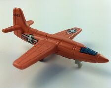 MICRO MACHINES LOT MILITARY WAR BELL X1 FIGHTER JET PLANE ORANGE USAF 6062