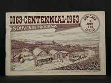 STRICKER, IDAHO CENTENNIAL 1863-1963 Souvenir Program Western Americana PB
