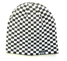 Vans Which Way Now Beanie Black White Check Reversible Hat 100% Acrylic New NWT