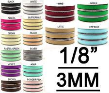 "3MM 1/8"" Solid Grosgrain Ribbons DIY Scrapbooking Crafts 350Yards/roll"