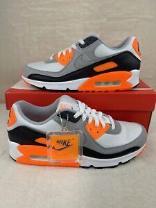 Nike Air Max 90 Total Orange White Grey Orange CW5458-101 men's size 10