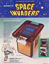 Midway SPACE INVADERS Cocktail Original 1978 NOS Video Arcade Game Flyer Sci-Fi