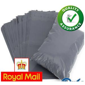 "10 x 14"" Grey Mailing Bags Self Seal Strong Poly Postal Postage Post Mail Bag UK"