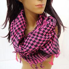 Pali Tuch PLO Halstuch aus Baumwolle  Schal 100 x 100 cm kariert Pink