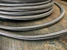 Steel Metal Covered Cord - Round 3wire Metal Braided Cable, Mesh Jack - Per Foot