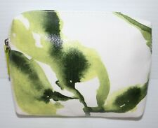 Creme de La Mer Logo Cosmetic Makeup Bag / Case White / Green art