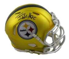TJ WATT AUTOGRAPHED/SIGNED PITTSBURGH STEELERS BLAZE MINI HELMET 21221 JSA