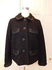 J CREW Vintage inspired Boucle Tweed Penny Jacket Black SZ 4, Small, MSRP $228