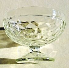 Vintage Clear Glass Pedestal Sundae / Bon Bon Bowl - Marked British Make