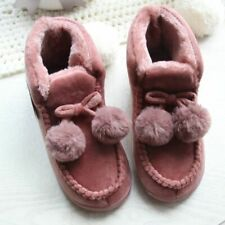 Women Shoes Plush Slippers Anti-Slip Indoor Boots Winter Solid Patterned Slipper