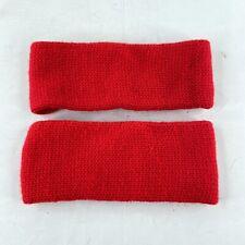 Best Wear Lot of 2 Vintage Red 100% Acrylic Head Sweat Band Hunting Gear Taiwan