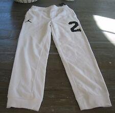 Air Jordan Slim Fit 23 French Terry Pants 952602 001 WHITE/BLACK size  L ***