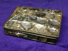Antique Abalone & Brass Jewelry / Trinket Box
