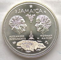 Jamaica 1972 Independence 10 Dollars 1.46oz Silver Coin,UNC