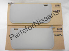 GENUINE NISSAN FRONTIER XTERRA 2002-2004 GREY CLOTH LH RH SUNVISOR KIT NEW